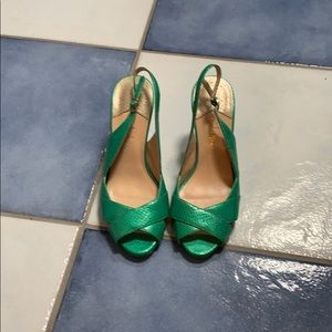 Size 6 green snake skin cole Haan heels